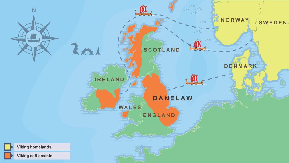 BBC Bitesize Who Were The Vikings - Norway england map