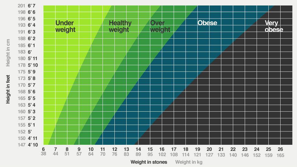 healthy bmi chart