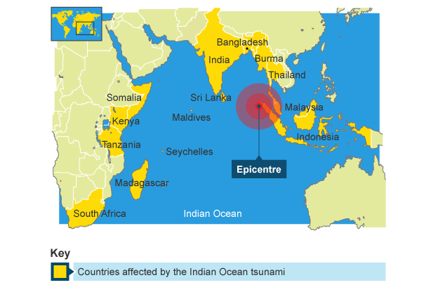 world map of tsunami affected areas gallery