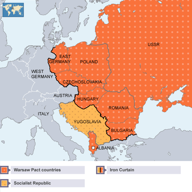 BBC Bitesize Higher History Soviet Policy In Eastern Europe - Map of divided berlin