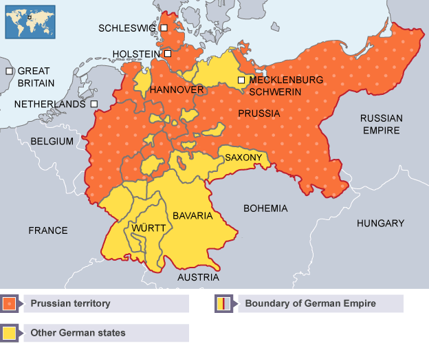 BBC Bitesize Higher History Why Unification Was Achieved In - Map of germany and france