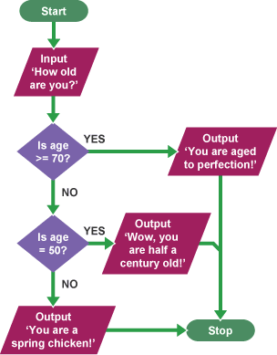 Flow charts computer science rebellions flow charts computer science bbc bitesize ks3 com ccuart Image collections