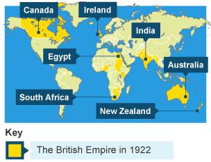 BBC Bitesize KS History The British Empire Through Time - Map of egypt and uk