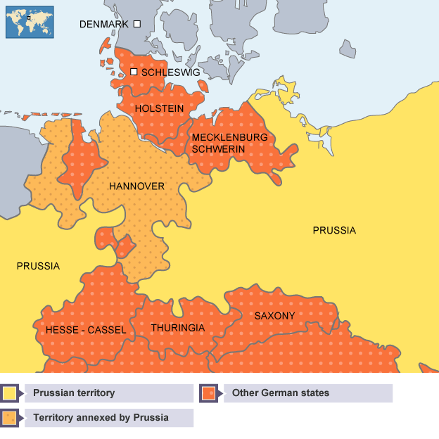 BBC Bitesize Higher History The Degree Of Growth In German - Germany map erfurt