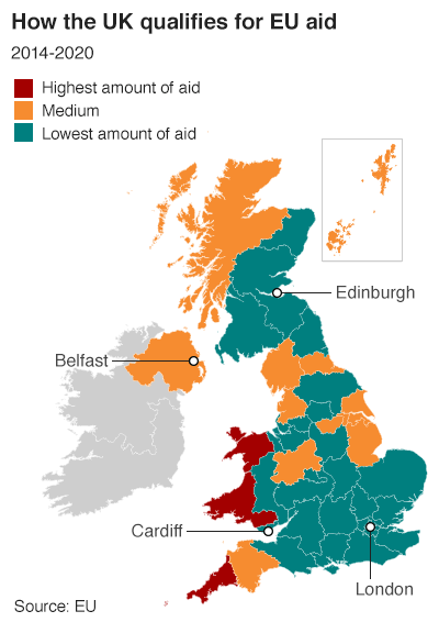How the UK qualifies for EU aid