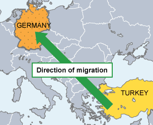 turkish immigration to germany Cem ozdemir is the best-known politician from an immigrant background germany today is an age away from 1982 germany's immigrants and their descendants are certainly less prominent in public life than they are in britain or france born in germany to turkish parents.