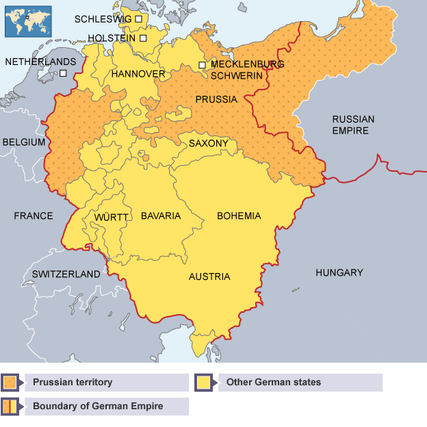 BBC Bitesize Higher History Why Unification Was Achieved In - Zollverein germany map