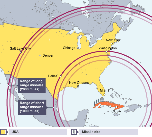 Cuban Missile Crisis By Tyler Matt And Michael Lessons Tes - Cuba and usa map