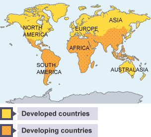 Bbc bitesize higher geography differences in levels of exports of developed and developing countries sciox Images